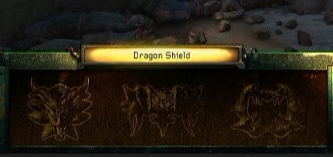Dragon Shield - Inventory Screen