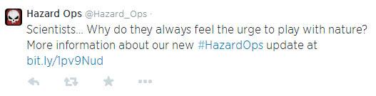 Hazard Ops - Tweet