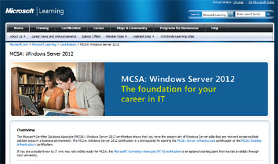 New Windows Server 2012 Certifications and Exams - MCSA and MCSE