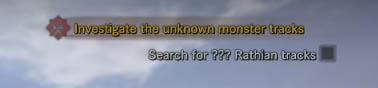 Rathian quest message