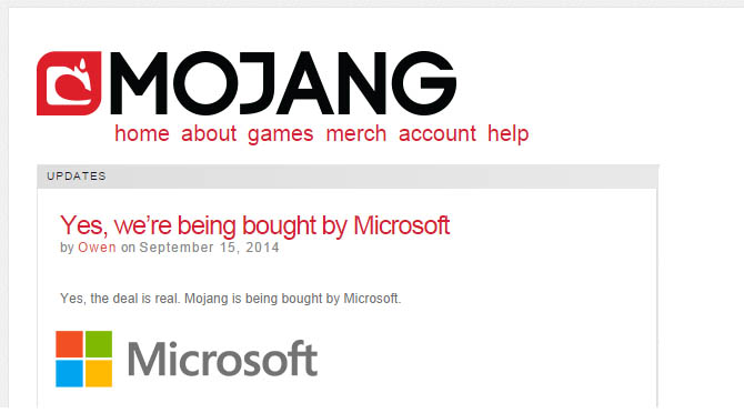 Microsoft Buys Minecraft Farewell Notch Jeb And Dinnerbone