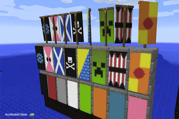 Minecraft 14w30a - Banner designs & Whats New in Minecraft 14w30a - Banners and Flags | Accelerated Ideas