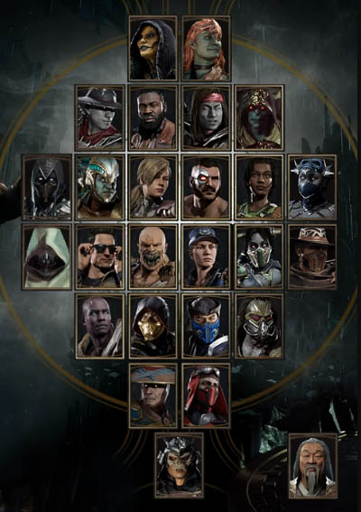 Character select screen in MK11