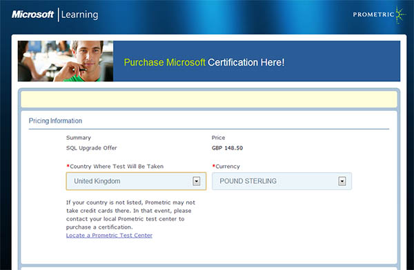 prometric discount voucher for sql server 2012 exams accelerated ideas