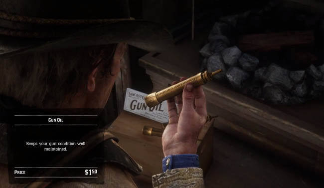 Gun oil item in shop
