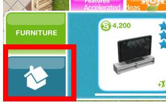 Sims Freeplay - Botão de casa