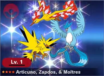 Legendary Spirit example - Articuno, Zapdos & Moltres