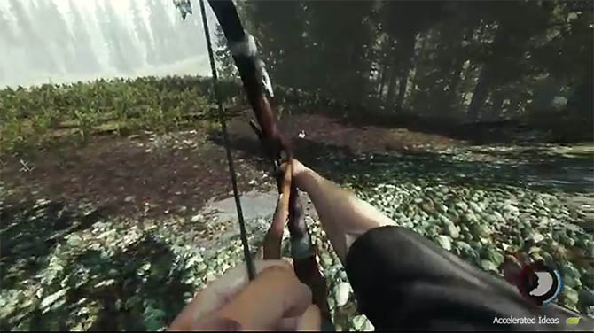 Image result for arrow released from bow in forest