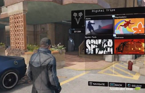 Watch Dogs - Smartphone menu