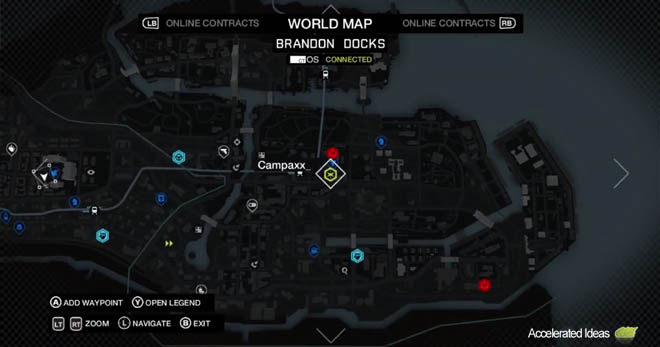 Watch Dogs in-game map
