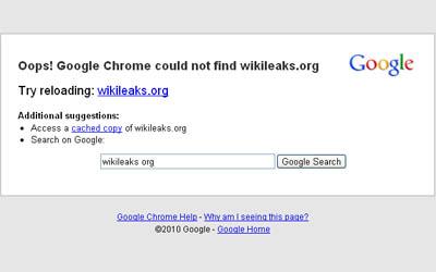 Wikileaks website not working? Wikileaks org domain is gone