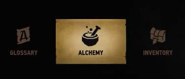 Alchemy menu option