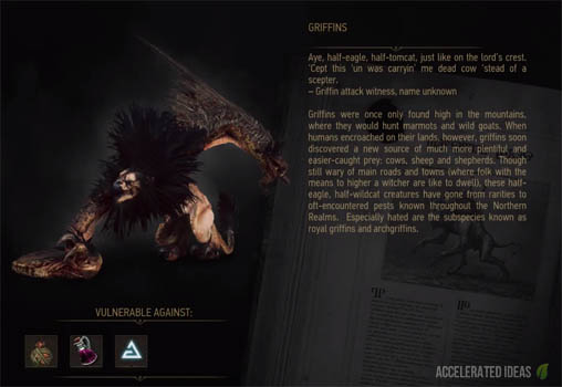 Witcher 3 complete bestiary to help you defeat every monster griffin bestiary entry solutioingenieria Image collections
