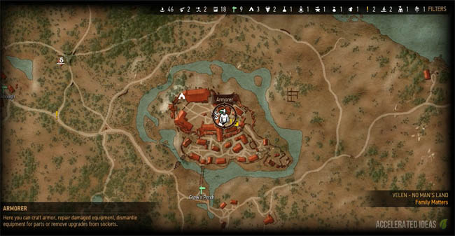 Crow's Perch map