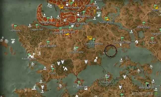 Witcher 3 - Complete Map with Points of Interest | Accelerated Ideas