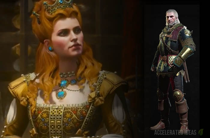 Geralt armour and queen split screen